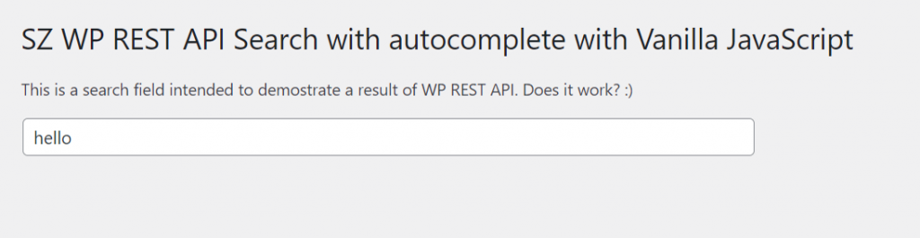 WP REST API search with autocomplete built with Vanilla JS